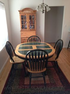 how to refinish an old tile topped table for super cheap!