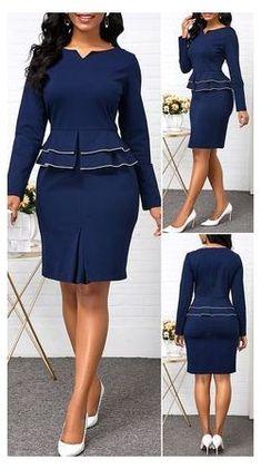 Short African Dresses, Latest African Fashion Dresses, Women's Fashion Dresses, Outfits Dress, Casual Dresses, Sexy Dresses, Peplum Dresses, Bandage Dresses, Dresses Dresses