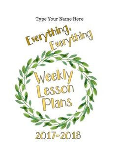 Editable Teacher Binder FREE Updates for Life- Teacher Weekly Planner and Forms