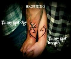 browning+tattoos+for+girls   His and her Browning tattoos!   Country girl! ♥ omg I LOVE this!!!! Sooo cute!!!!!