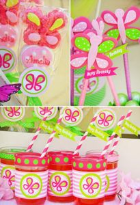 pink butterfly party