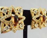 Hattie Carnegie Faux Topaz Earrings c. 1950s
