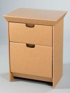 Design Your Own Night Stand - Cardboard Furniture - SmartDeco Cardboard Recycling, Cardboard Box Crafts, Cardboard Design, Cardboard Display, Cardboard Paper, Paper Crafts, Diy Cardboard Furniture, Paper Furniture, Furniture Making
