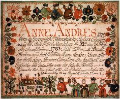 Birth and Baptismal Certificate of Anne Andres  c. 1783