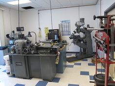 The suspension engineers have their very own machine shop to use when one-off parts need to be created for projects.