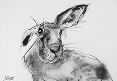 Supreme Portrait Drawing with Charcoal Ideas. Prodigious Portrait Drawing with Charcoal Ideas. Animal Paintings, Animal Drawings, Illustrations, Illustration Art, Rabbit Illustration, Lapin Art, Rabbit Art, Rabbit Hole, Bunny Art