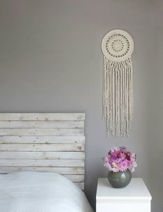 Check out this item in my Etsy shop https://www.etsy.com/uk/listing/253944280/macrame-wall-hanging-bohemian-decor-wall