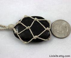 Shungite Hemp Wrapped Healing Crystal Necklace https://www.etsy.com/listing/220745042/