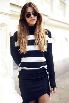 Black and White sweater