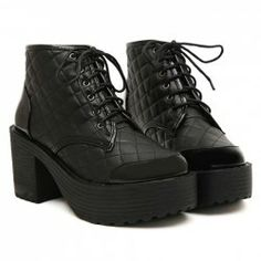 $17.23 Punk Style Women's Black Short Boots With Checked and Splice Design