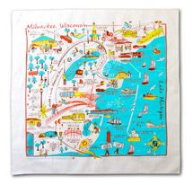 LOVE this Milwaukee Lakefront Bandana that Broadway Paper is selling!!!