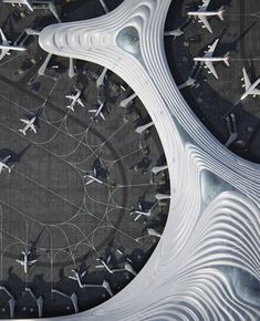 MAD Architects, led by Ma Yansong, releases its design for Terminal 3 of Harbin Taiping International Airport. Harbin, Taiping, Amazing Architecture, Art And Architecture, Futuristic Architecture, Contemporary Architecture, Airport Terminal 3, Mad Design, Airport Design