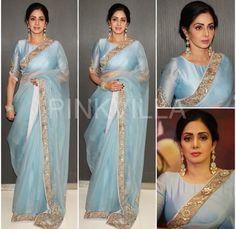 Yay or Nay : Sridevi in Manish Malhotra Bollywood Dress, Saree Dress, Bollywood Fashion, Indian Dresses, Indian Outfits, Pakistani Dresses, Indian Sarees, Modern Saree, Sari Blouse Designs