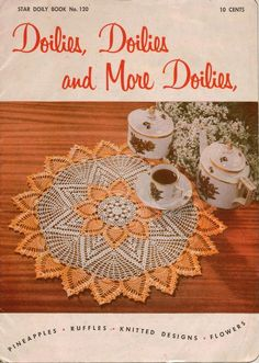 Star 120 Doilies Doilies More Doilies Crochet Knitting Patterns Wheat Rose 1955 #AmericanThreadCompany #CrochetPatterns