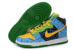 Nike Dunk High Pro SB Harlequin Dodger blue India Green 39bc82acb