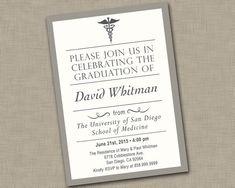 Medical School Graduation Invitation / by JustAddPaperDesigns