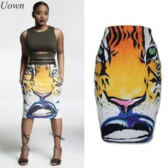 New Women Club Wear High Waist Pencil Skirts Novelty Animal Print Skirts Fashion Casual Bodycon Tube Wrap Midi Skirts Summer