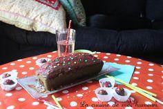 Gâteau cachévanille: Coeur chocolat