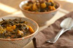 Slow-cooker Kale & Butternut Squash Soup www.thepreppyvegan.com