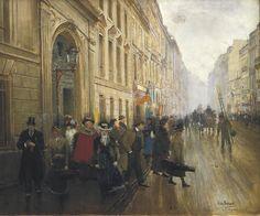 Beraud, Jean 1849-1935. Leaving.