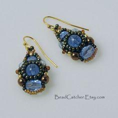 summer Sky blue beadwoven earrings by BeadCatcher on Etsy, $32.00