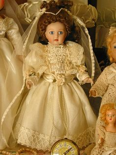 Porcelain bride doll,gift from Paulette