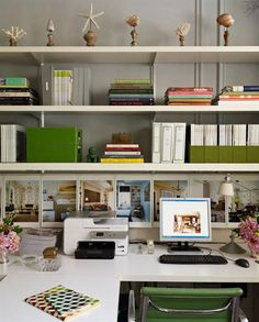 Home Office by Timothy Whealon Interiors #green #office