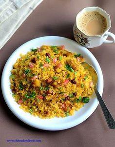 Batata poha recipe, Gujarati Aloo poha, Potato poha recipe without onion and garlic North Indian Recipes, Indian Food Recipes, Vegetarian Recipes, Healthy Recipes, Ethnic Recipes, Gujarati Cuisine, Gujarati Recipes, Gujarati Food, Rajasthani Recipes
