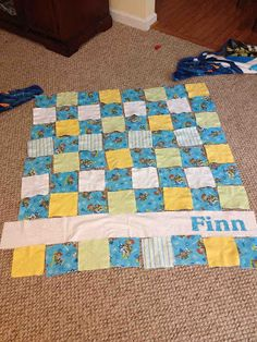 Cocoa Pie: Tutorial - Personalized Baby Boy Flannel Rag Quilt/Cuddle Blanket