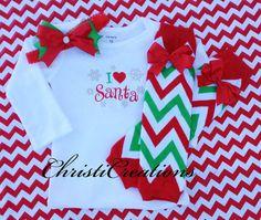 Baby Girl Christmas Holiday ShirtI Love by ChristiCreations, $26.00