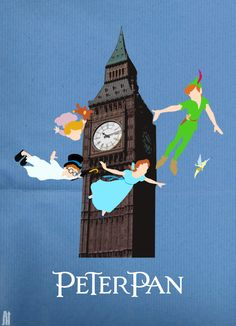 Peter Pan invite template...hands on the clock will reflect party time!