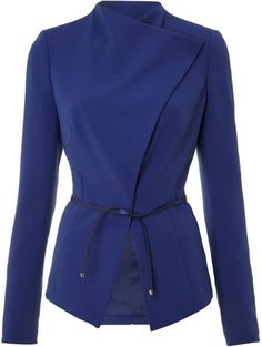 Long Sleeved Revere Collar Jacket - Lyst