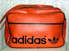 1970s Adidas Orange Vinyl Trefoil Gym Bag Vintage Adidas, Gym Bag, 1970s, Athletic, Orange, Sports, Bags, Hs Sports, Handbags