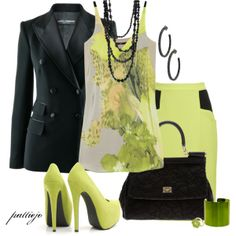 Green Eyed Lady, created by rockreborn on Polyvore