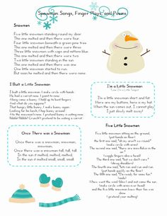 Snowman Worksheets for Preschoolers