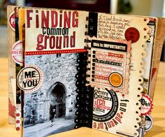 Great details in this mini travel album by the very talented Sandy Krieger