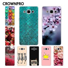 CROWNPRO A5 2015 FOR Samsung Galaxy A5 Case Cover 2015 A500 A5000 A500F A500H Painting Phone Back Protector FOR Samsung A5 Case