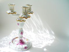 Hey, I found this really awesome Etsy listing at https://www.etsy.com/listing/185533482/herend-porcelain-candelabra-candlestick