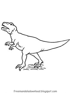 Ausmalbilder Boeser Dinosaurier | Dinosaurier Malvorlage | Pinterest
