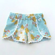 Sewing Shorts For Girls Diy Clothes Ideas Sewing Kids Clothes, Sewing For Kids, Baby Sewing, Children Clothes, Kids Patterns, Pdf Sewing Patterns, Clothing Patterns, Knitting Patterns, Short Bebe