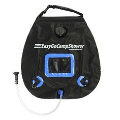EasyGo Camp Shower  5 Gallon Portable Shower  Solar Heated Camping Water Bag with Heavy Duty Handle and Buckle Clip for Easy Hanging  No Shower Pump Needed * Click image for more details.Note:It is affiliate link to Amazon.