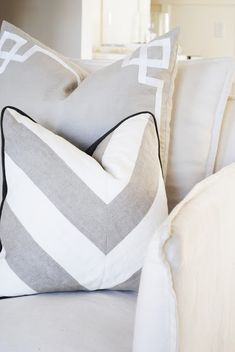 flourish design + style: around the house & me + hinkley lighting-I love this pillow!