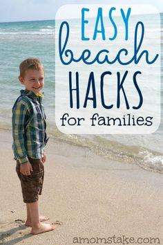I love family trips to the beach, not much better, these super easy hacks for hitting the sand and waves for families is GENIUS! Total summer vacation lifesaver! AD