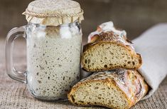 Making your own sourdough starter is as simple as combining water and flour and waiting for the naturally occurring yeast in the air to collect. Sourdough starter made with wild yeast results in flavorful loaves, and it's easy to make and maintain… Sourdough Pizza, Sourdough Recipes, Bread Recipes, Baking Recipes, Bread Baking, Bakery, Tasty, Food, Serving Ideas