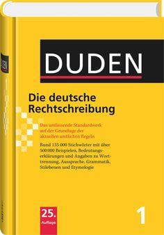 Duden - Die deutsche Rechtschreibung: Gehört auf jeden Schreibtisch! Weitere Tipps unter http://www.schreibwerkstatt.co.at/themen-a-z/rechtschreibung-grammatik/