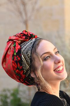 "🍀🌺These Head Coverings - ""Mitpachot"" were created for covering all your hair, but can also be folded to show only some hair. Our fabrics are comfortable and of superior quality. #ticheloftheday #tichel #tichels #headcoveringmovement #mode #shawl #headpiece #tzniutlook #turbans #modest #modesty #modestfashion #modestoview #accessories #fashionaccessories #headband #hairaccessories #hairscarf #modestoutfit #modeststyle #modestwear #modestwomen #modesthijab #hairturban"