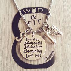 Collar Corredor Let's Go! Zapadilla, Mancuerna y Iniciál Motivación,Fitness,Gym,Bodybuilding,Lets Go,Ispiración Runner Regalo Running Shoe de WodAndFit en Etsy