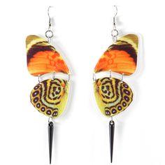 Butterfly Earrings Orange by REALM