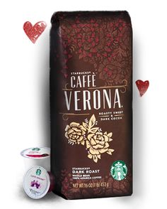 Starbucks Coffee Cafe Verona... roasted dark coffee with Dark Cocoa flavors... perfect pairing for #LINDORMelt Truffles!