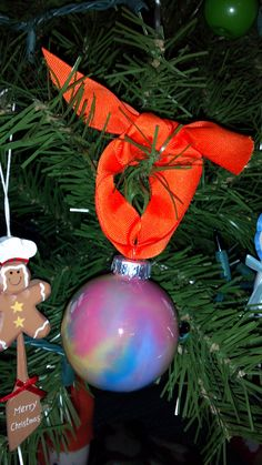 Paint swirl ornaments